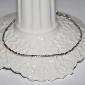 Sterling Silver Box link bracelet  7 inches